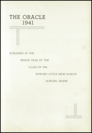Page 9, 1941 Edition, Edward Little High School - Oracle Yearbook (Auburn, ME) online yearbook collection