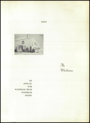 Page 3, 1955 Edition, Windham High School - Windonian Yearbook (Windham, ME) online yearbook collection