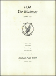 Page 5, 1959 Edition, Windham High School - Windonian Yearbook (Windham, ME) online yearbook collection