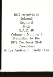 Page 5, 1972 Edition, Nokomis Regional High School - Arrowhead Yearbook (Newport, ME) online yearbook collection