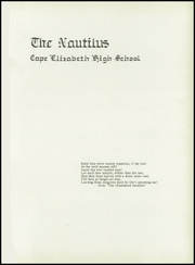 Page 5, 1952 Edition, Cape Elizabeth High School - Nautilus Yearbook (Cape Elizabeth, ME) online yearbook collection