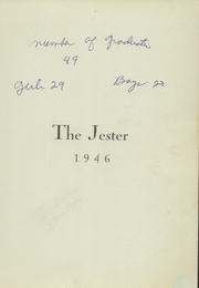 Page 3, 1946 Edition, Ellsworth High School - Jester Yearbook (Ellsworth, ME) online yearbook collection