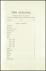 Page 7, 1931 Edition, Old Orchard Beach High School - Oceana Yearbook (Old Orchard Beach, ME) online yearbook collection