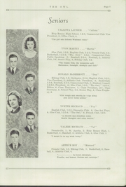 Page 9, 1938 Edition, Madawaska High School - Owl Yearbook (Madawaska, ME) online yearbook collection