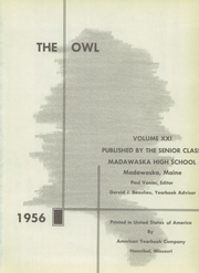 Page 5, 1956 Edition, Madawaska High School - Owl Yearbook (Madawaska, ME) online yearbook collection