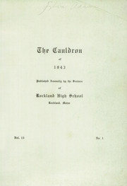 Page 3, 1943 Edition, Rockland High School - Cauldron Yearbook (Rockland, ME) online yearbook collection