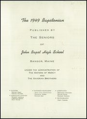 Page 5, 1949 Edition, John Bapst High School - Bapstonian Yearbook (Bangor, ME) online yearbook collection