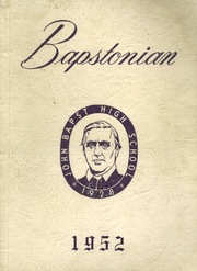 1952 Edition, John Bapst High School - Bapstonian Yearbook (Bangor, ME)