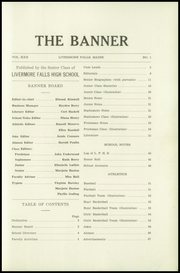 Page 5, 1935 Edition, Livermore Falls High School - Banner Yearbook (Livermore Falls, ME) online yearbook collection