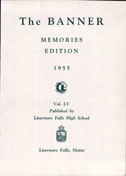 Page 5, 1955 Edition, Livermore Falls High School - Banner Yearbook (Livermore Falls, ME) online yearbook collection