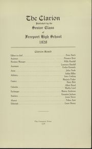 Page 5, 1928 Edition, Freeport High School - Clarion Yearbook (Freeport, ME) online yearbook collection