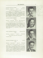 Page 9, 1959 Edition, Wiscasset High School - Warrior Yearbook (Wiscasset, ME) online yearbook collection