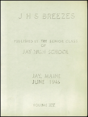 Page 3, 1946 Edition, Jay High School - Breezes Yearbook (Jay, ME) online yearbook collection