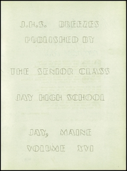 Page 3, 1948 Edition, Jay High School - Breezes Yearbook (Jay, ME) online yearbook collection