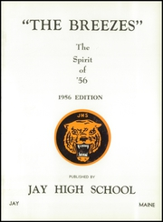 Page 5, 1956 Edition, Jay High School - Breezes Yearbook (Jay, ME) online yearbook collection