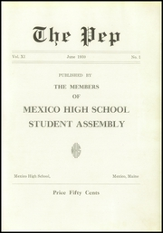 Page 5, 1930 Edition, Mexico High School - Pep Yearbook (Mexico, ME) online yearbook collection