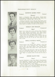Page 17, 1954 Edition, Shead Memorial High School - Oracle Yearbook (Eastport, ME) online yearbook collection