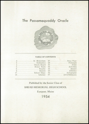 Page 3, 1954 Edition, Shead Memorial High School - Oracle Yearbook (Eastport, ME) online yearbook collection