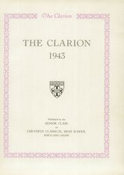 Page 5, 1943 Edition, Cheverus High School - Clarion Yearbook (Portland, ME) online yearbook collection