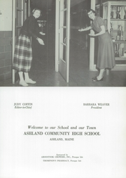 Page 7, 1954 Edition, Ashland High School - Echoes Yearbook (Ashland, ME) online yearbook collection