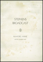 Page 3, 1940 Edition, Stephens High School - Tribute Yearbook (Rumford, ME) online yearbook collection