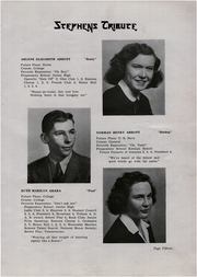 Page 15, 1946 Edition, Stephens High School - Tribute Yearbook (Rumford, ME) online yearbook collection