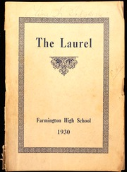 Farmington High School - Laurel Yearbook (Farmington, ME) online yearbook collection, 1930 Edition, Page 1