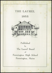 Page 3, 1955 Edition, Farmington High School - Laurel Yearbook (Farmington, ME) online yearbook collection