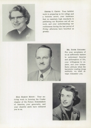 Page 9, 1956 Edition, Crosby High School - Keystone Yearbook (Belfast, ME) online yearbook collection