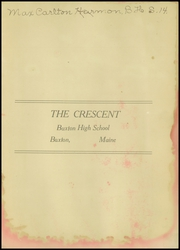 Page 3, 1912 Edition, Buxton High School - Crescent Yearbook (Buxton, ME) online yearbook collection