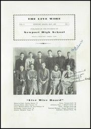 Page 5, 1937 Edition, Newport High School - Live Wire Yearbook (Newport, ME) online yearbook collection