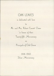 Page 3, 1943 Edition, Oak Grove Coburn High School - Oak Leaves Yearbook (Vassalboro, ME) online yearbook collection