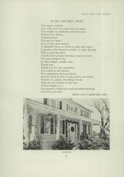 Page 8, 1945 Edition, Oak Grove Coburn High School - Oak Leaves Yearbook (Vassalboro, ME) online yearbook collection