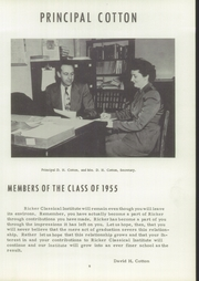 Page 9, 1955 Edition, Ricker Classical Institute - Aquilo Yearbook (Houlton, ME) online yearbook collection