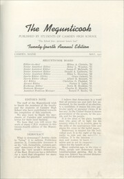 Page 3, 1951 Edition, Camden High School - Megunticook Yearbook (Camden, ME) online yearbook collection