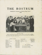 Page 5, 1944 Edition, Guilford High School - Rostrum Yearbook (Guilford, ME) online yearbook collection