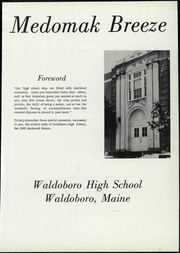 Page 7, 1962 Edition, Waldoboro High School - Medomak Breeze Yearbook (Waldoboro, ME) online yearbook collection