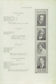 Page 9, 1930 Edition, Mechanic Falls High School - Pilot Yearbook (Mechanic Falls, ME) online yearbook collection