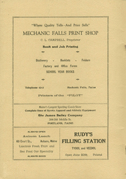 Page 2, 1937 Edition, Mechanic Falls High School - Pilot Yearbook (Mechanic Falls, ME) online yearbook collection