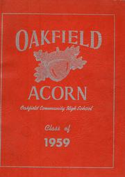 1959 Edition, Oakfield High School - Acorn Yearbook (Oakfield, ME)