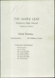 Page 3, 1953 Edition, Mapleton High School - Maple Leaf Yearbook (Mapleton, ME) online yearbook collection