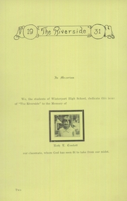 Page 4, 1931 Edition, Winterport High School - Riverside Yearbook (Winterport, ME) online yearbook collection