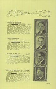 Page 9, 1931 Edition, Winterport High School - Riverside Yearbook (Winterport, ME) online yearbook collection