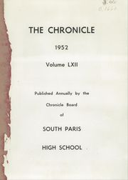 Page 3, 1952 Edition, South Paris High School - Chronicle Yearbook (South Paris, ME) online yearbook collection