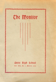 Unity High School - Monitor Yearbook (Unity, ME) online yearbook collection, 1938 Edition, Page 1