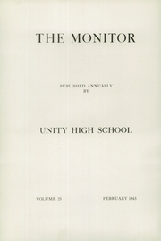 Page 4, 1945 Edition, Unity High School - Monitor Yearbook (Unity, ME) online yearbook collection