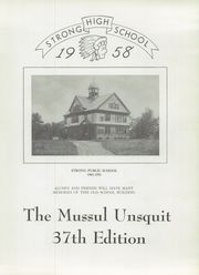 Page 3, 1958 Edition, Strong High School - Mussul Unsquit Yearbook (Strong, ME) online yearbook collection