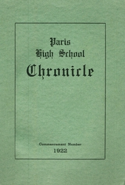 Paris High School - Chronicle Yearbook (South Paris, ME) online yearbook collection, 1922 Edition, Page 1