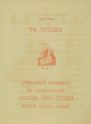 Page 3, 1940 Edition, Porter High School - Outlook Yearbook (Kezar Falls, ME) online yearbook collection