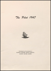 Page 3, 1947 Edition, North Haven High School - Pilot Yearbook (North Haven, ME) online yearbook collection